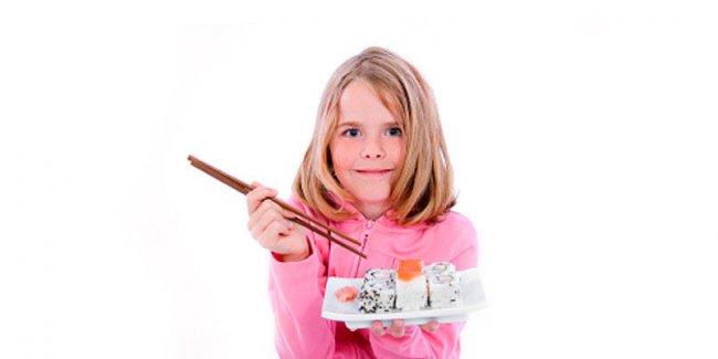 Можно ли детям употреблять суши