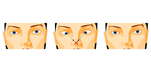 Как при помощи гимнастики сделать уже кончик носа